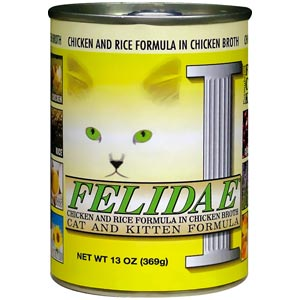 Felidae Canned Chicken & Rice Cat Food 12/13 oz Case felidae, chicken & rice, Cat food, canned, chicken, rice